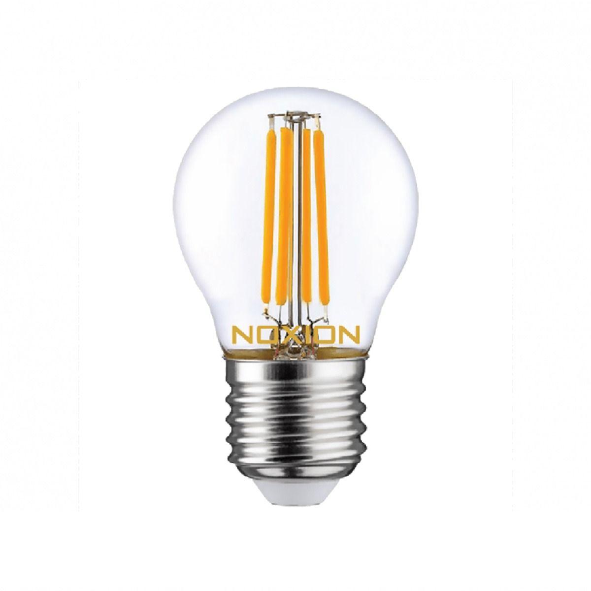 Noxion Lucent Filament LED Lustre 4.5W 827 P45 E27 Klar   Extra Varm Vit - Ersättare 40W
