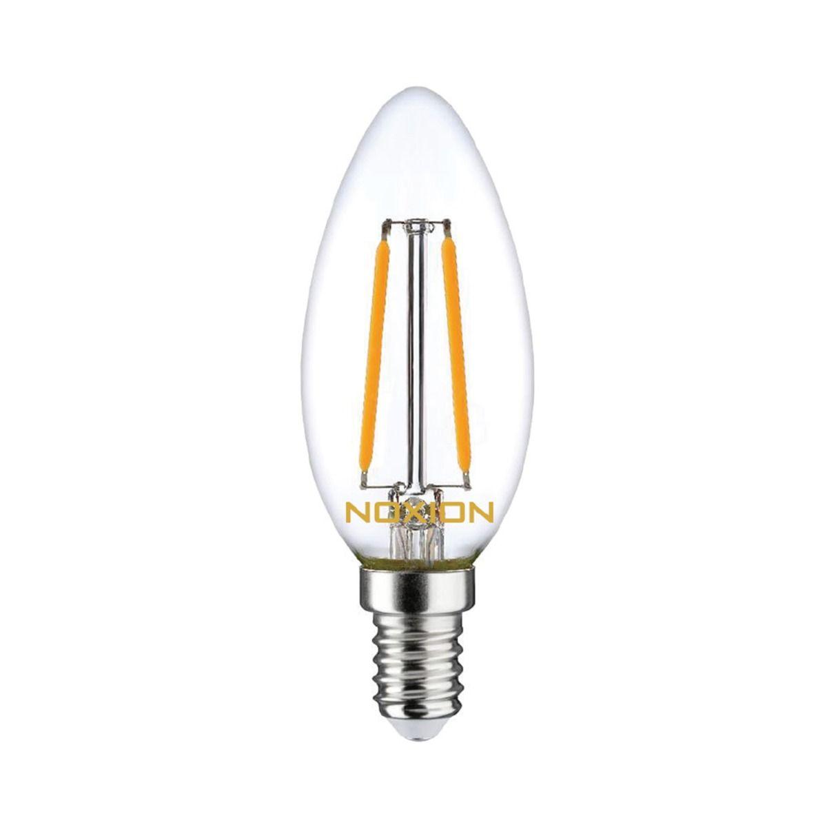 Noxion Lucent Filament LED Candle 2.5W 827 B35 E14 Klar | Extra Varm Vit - Ersättare 25W
