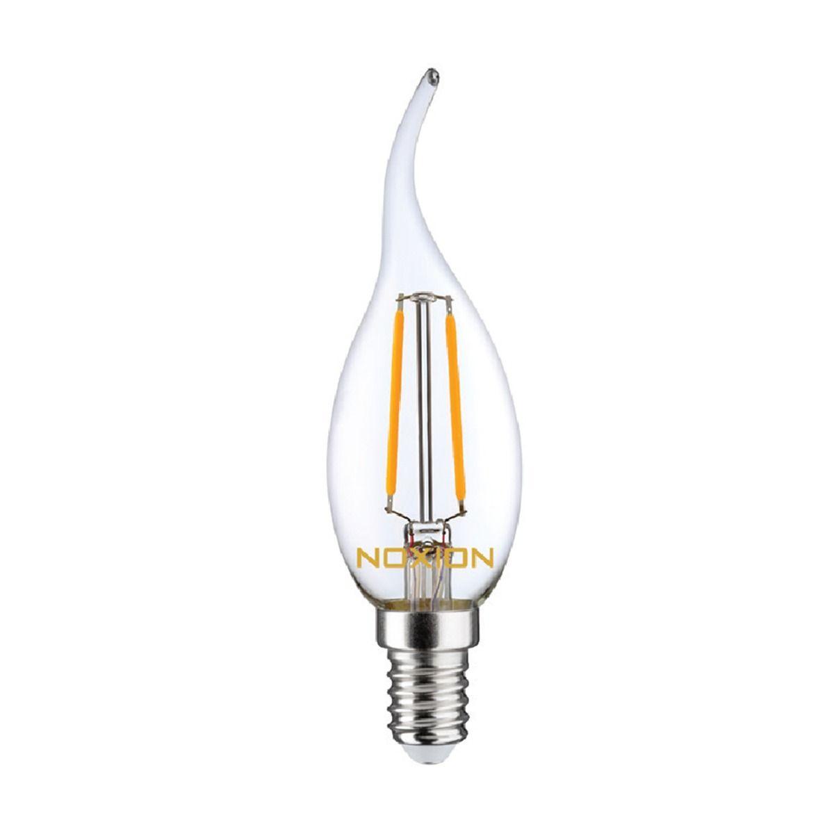 Noxion Lucent Filament LED Candle 2.5W 827 BA35 E14 Klar | Extra Varm Vit - Ersättare 25W