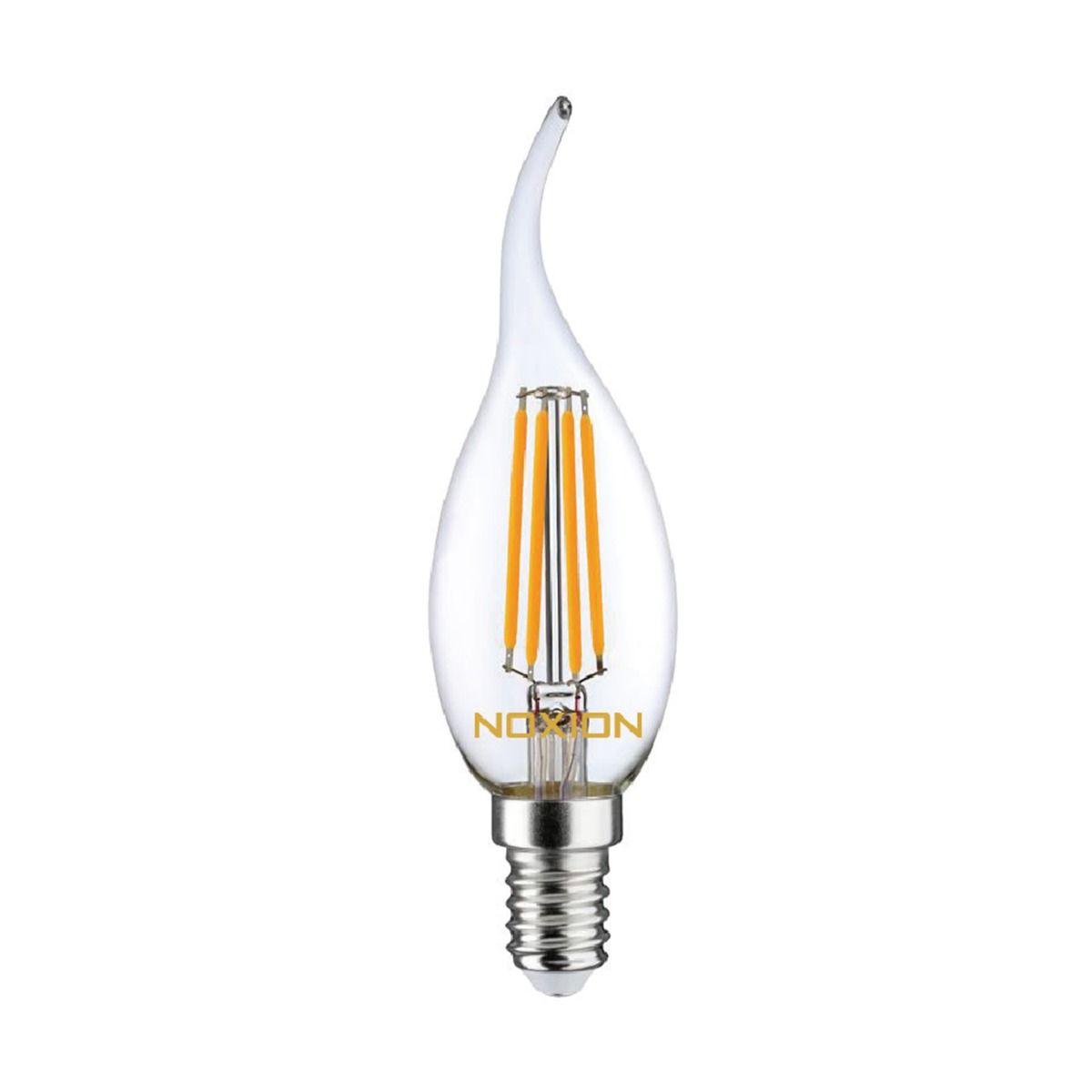 Noxion Lucent Filament LED Candle 4.5W 827 BA35 E14 Klar   Dimbar - Extra Varm Vit - Ersättare 40W