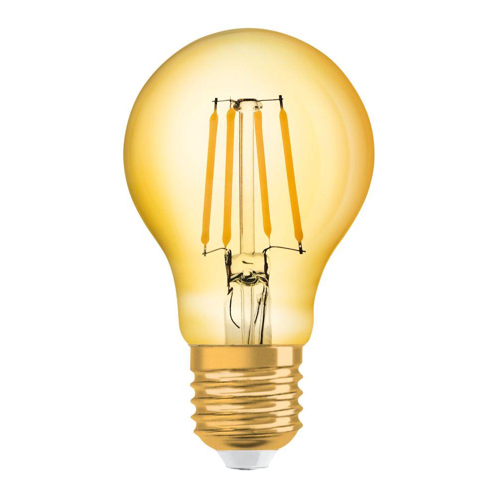 Osram Vintage 1906 LED Classic E27 A 4W 824 Filament Guld | Extra Varm Vit - Ersättare 35W