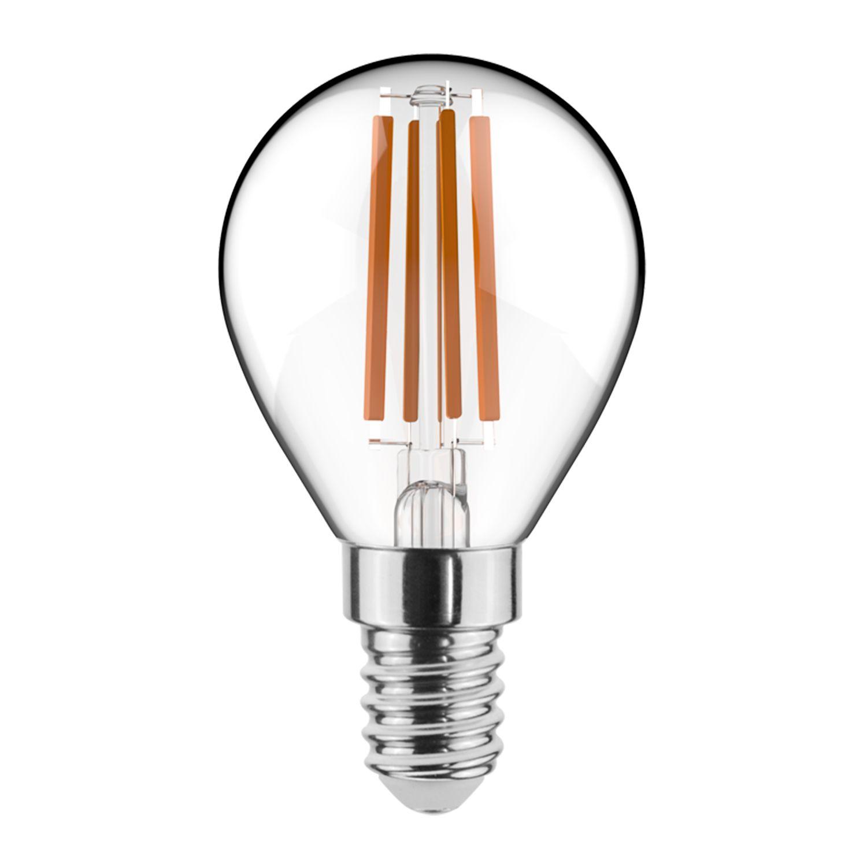 Noxion Lucent Filament LED Lustre 4.5W 827 P45 E14 Klar | Dimbar - Extra Varm Vit - Ersättare 40W