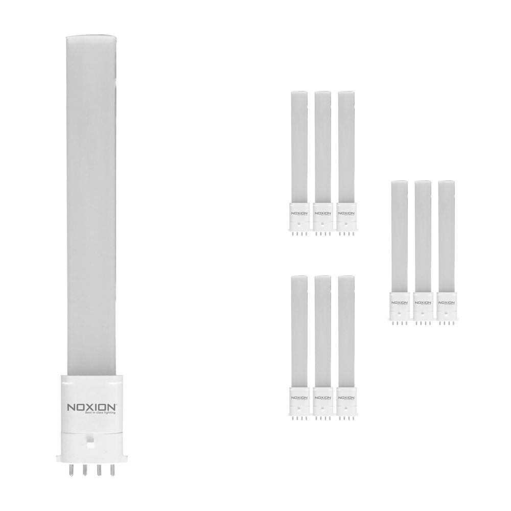 Flerpack 10x Noxion Lucent LED PL-S EM 6W 840   Kallvit - 4-stift - Ersättare 11W