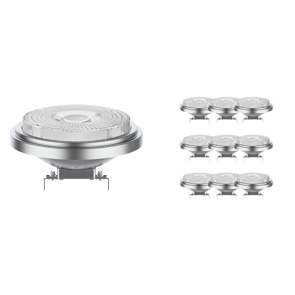 Flerpack 10x Noxion Lucent LED Spot AR111 G53 12V 7.3W 918-927 40D   Dim tillWarm - Bästa färgåtergivning - Ersättare 50W