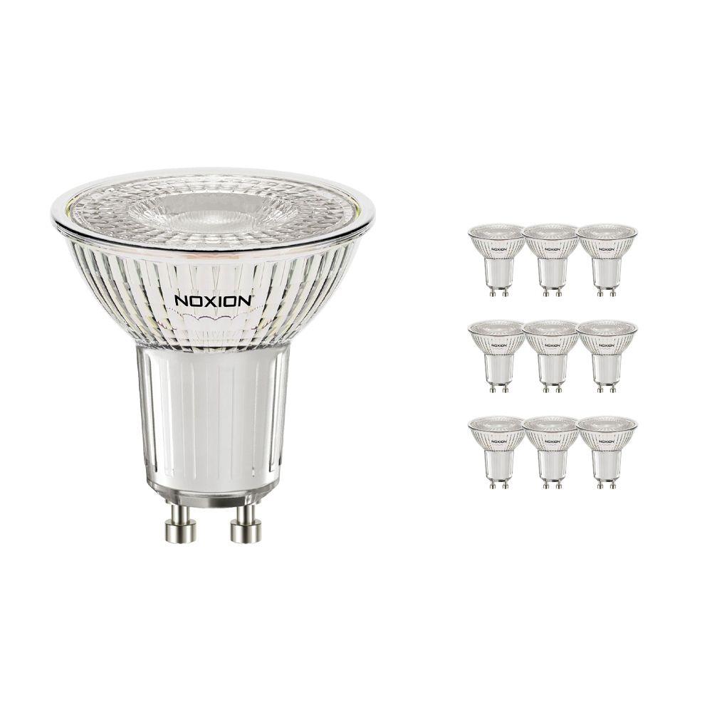 Flerpack 10x Noxion LED Spot GU10 4.6W 840 36D 440lm   Dimbar - Kallvit - Ersättare 50W