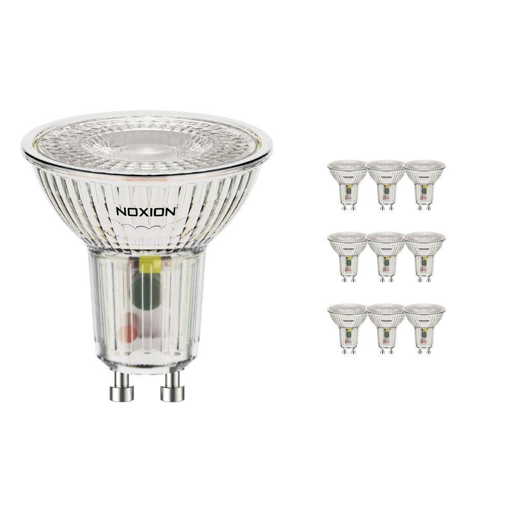 Flerpack 10x Noxion LED Spot GU10 3.7W 840 36D 270lm   Kallvit - Ersättare 35W