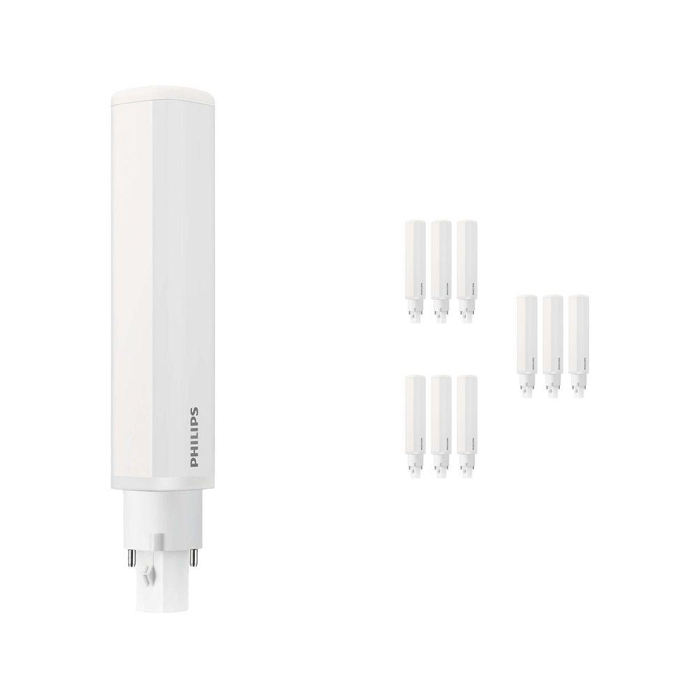 Flerpack 10x Philips CorePro PL-C LED 8.5W 840 | Kallvit - 2-stift - Ersättare 26W