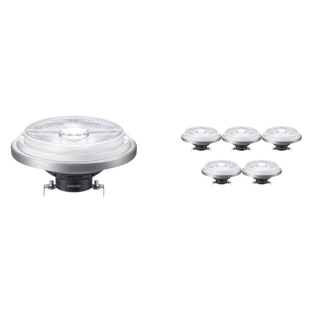 Multipack 6x Philips LEDspot ExpertColor G53 AR111 (MASTER) 11W 930 24D | Best Colour Rendering - Dimmable - Replaces 50W