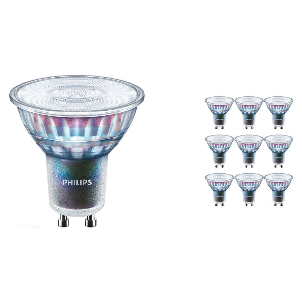 Flerpack 10x Philips LEDspot ExpertColor GU10 5.5W 940 36D (MASTER)   Bästa färgåtergivning - Kallvit - Dimbar - Ersättare 50W