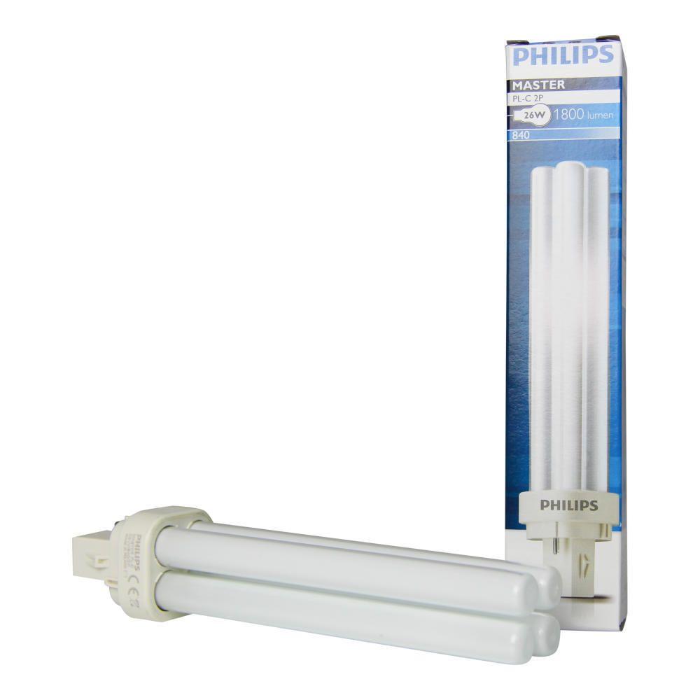 Philips PL-C 26W 840 2P (MASTER) | Kallvit - 2-Stift