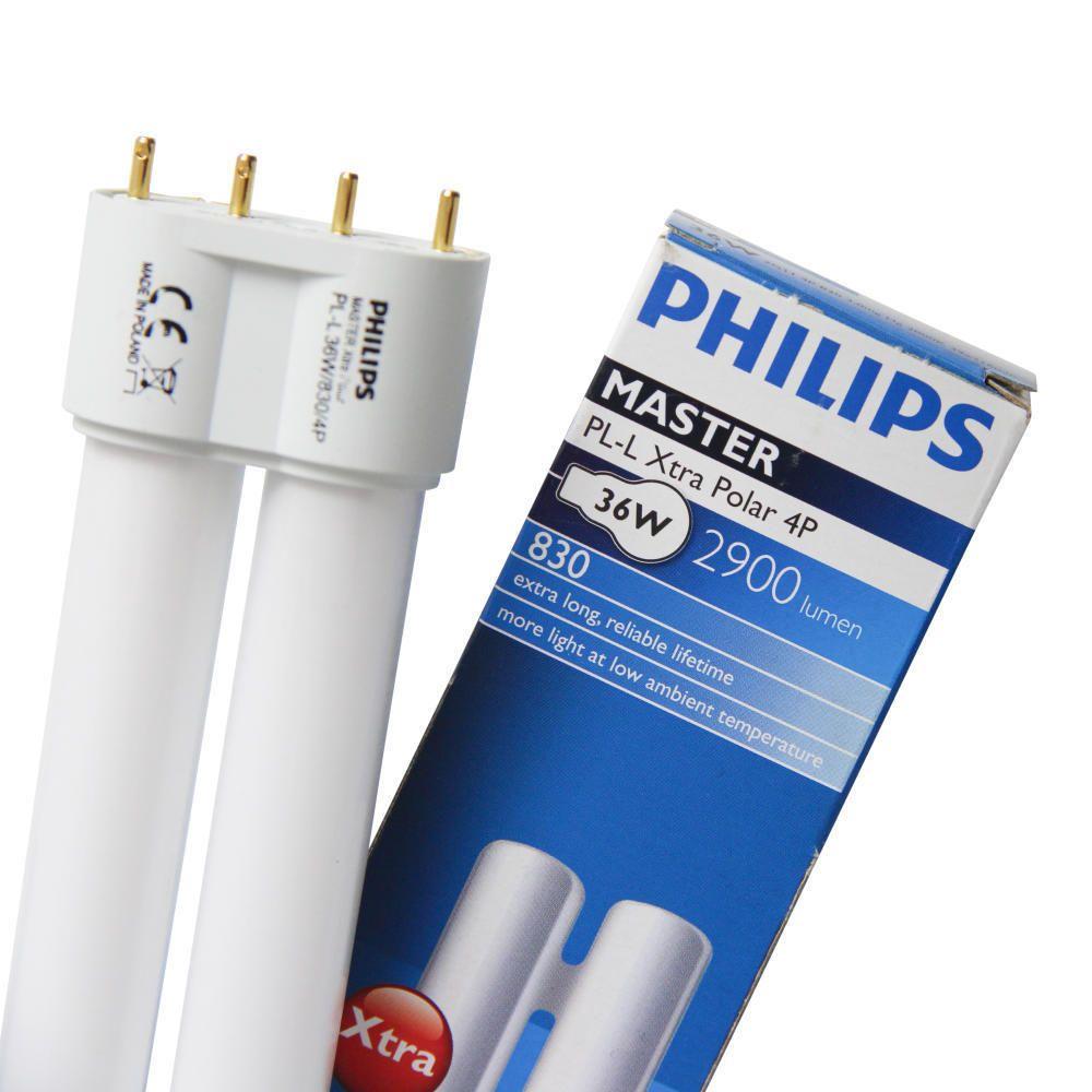 Philips PL-L 24W 840 4P (MASTER) | Kallvit - 4-Stift