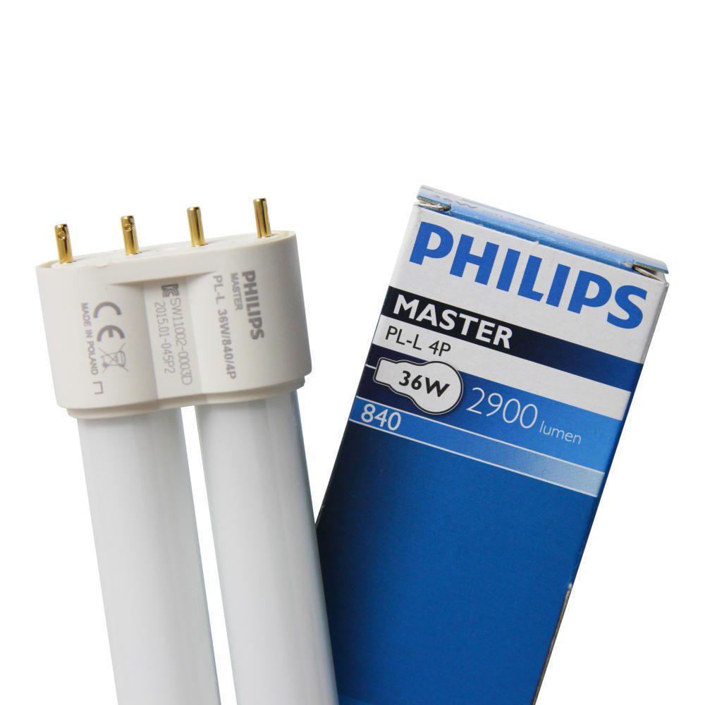 Philips PL-L 36W 840 4P (MASTER) | Kallvit - 4-Stift