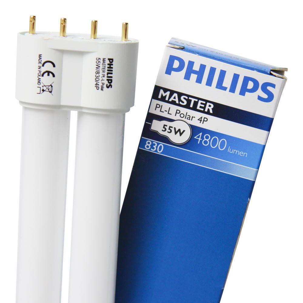 Philips PL-L 55W 830 4P (MASTER) | Varm Vit - 4-Stift