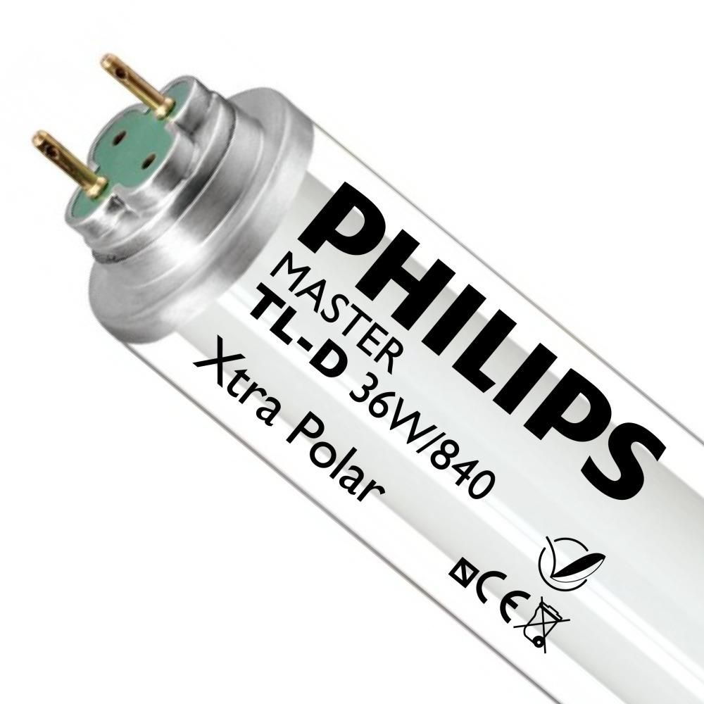 Philips TL-D Xtra Polar 36W 840 (MASTER) | 120cm - Kallvit