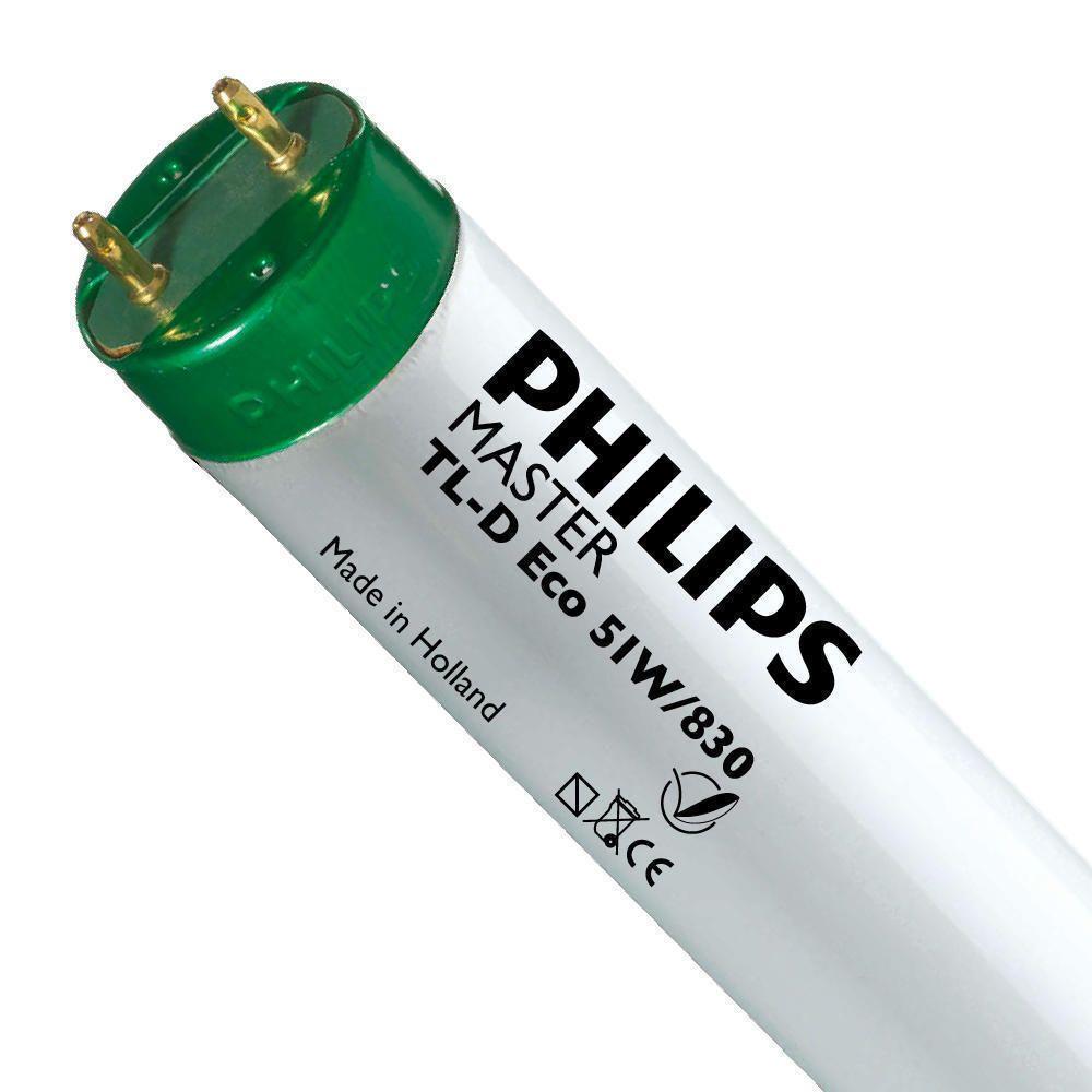 Philips TL-D Eco 51W 830 (MASTER) | 150cm - Varm Vit