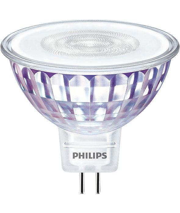 Philips LEDspot VLE GU5.3 MR16 7W 830 60D (MASTER) | Varm Vit - Dimbar - Ersättare 50W