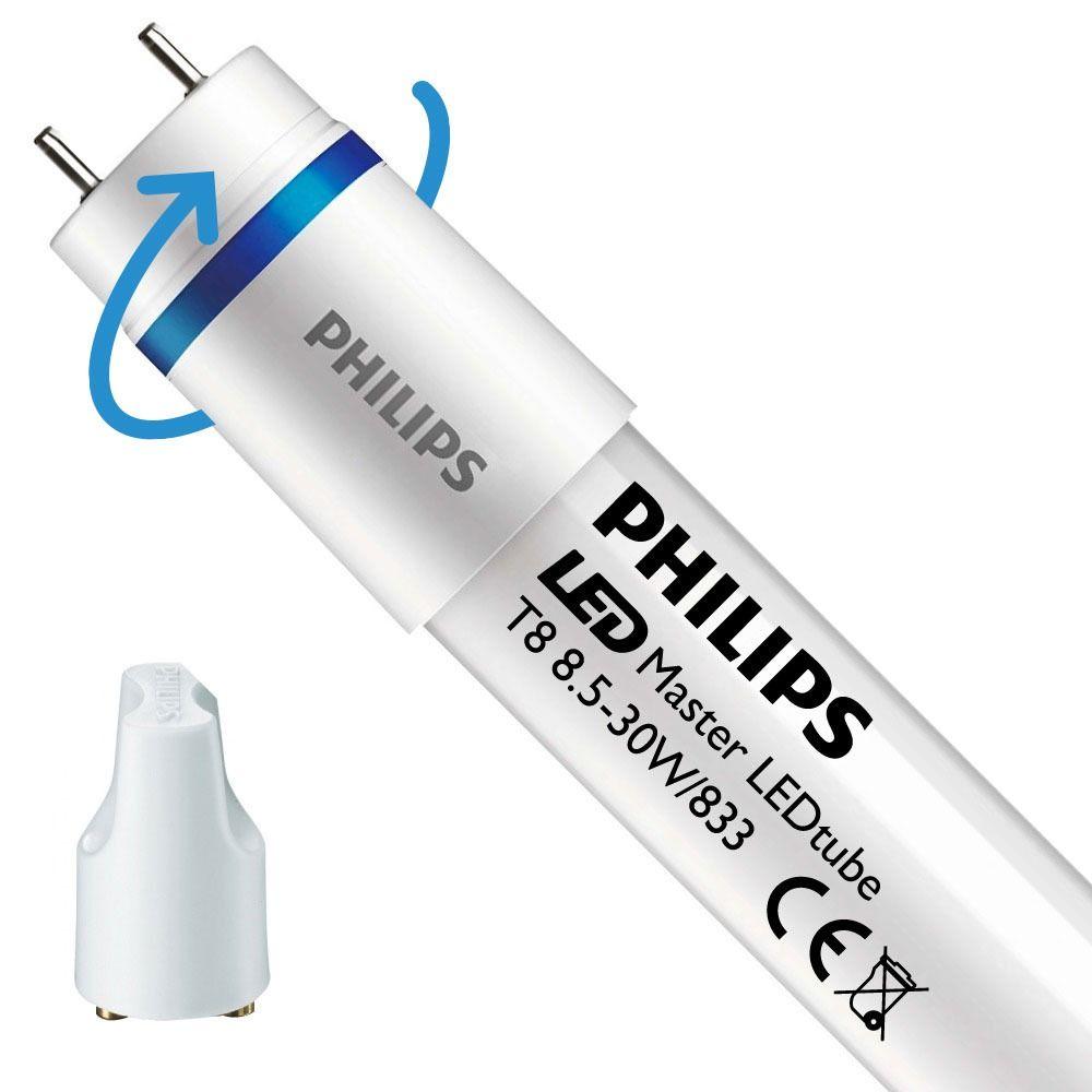 Philips LEDtube EM SO 8.5W 833 90cm (MASTER)   Food - LED Glimtändare inkl. - Ersättare 30W - Roterbar