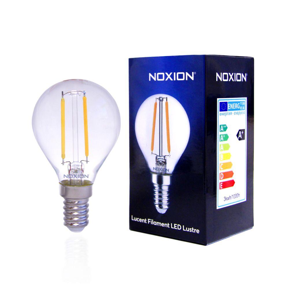 Noxion Lucent Filament LED Lustre 2.5W 827 P45 E14 Klar | Extra Varm Vit - Ersättare 25W