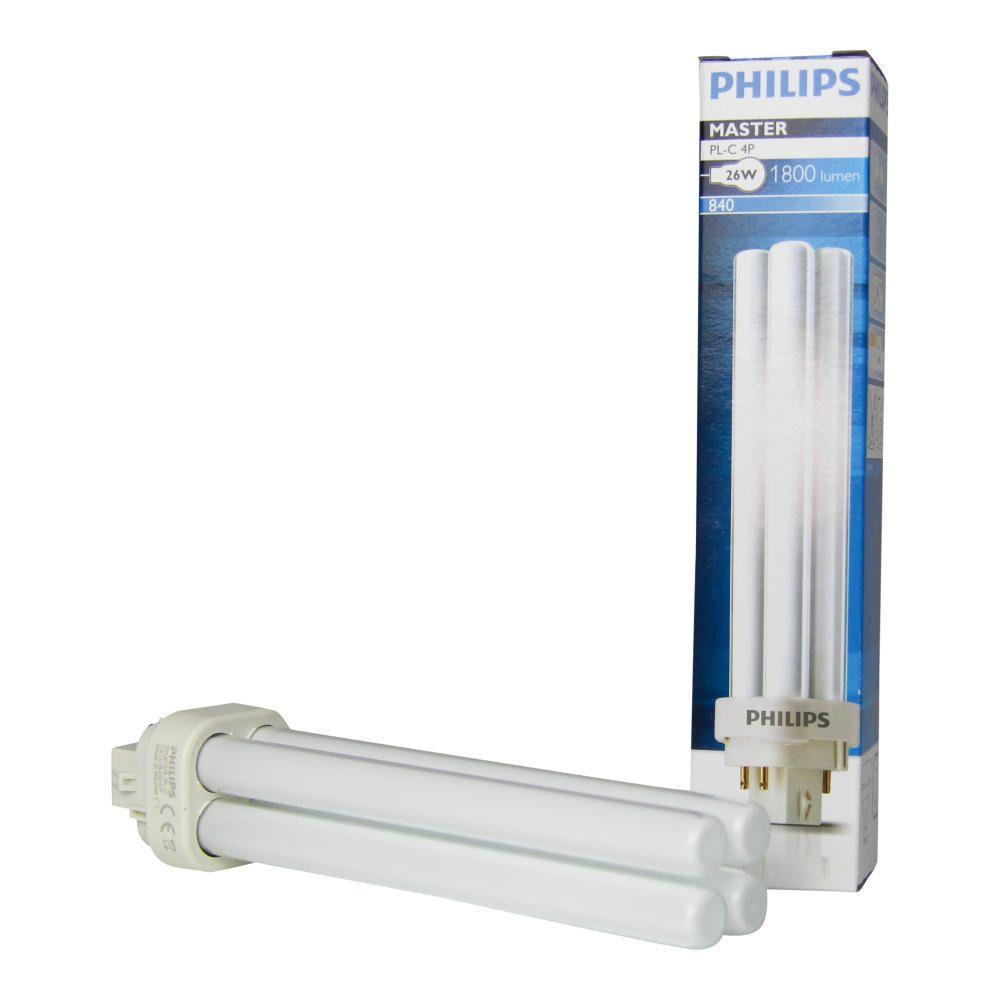 Philips PL-C 26W 840 4P (MASTER)   Kallvit - 4-Stift