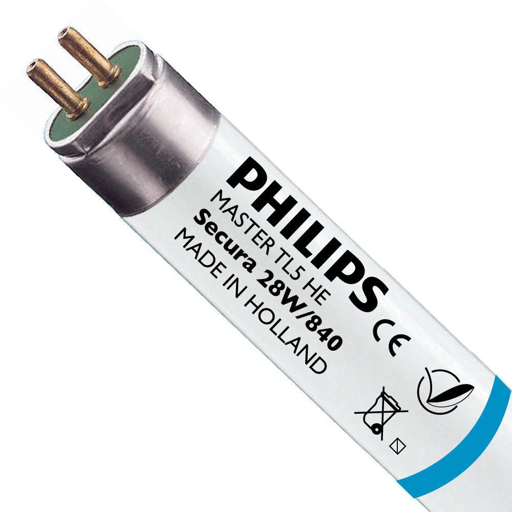 Philips TL5 HE Secura 28W 840 (MASTER)   115cm - Kallvit