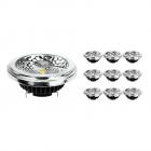 Flerpack 10x Noxion Lucent LED Spot AR111 G53 Pro 12V 12W 927 40D| Extra Varm Vit - Bästa färgåtergivning - Dimbar - Ersättare 50W