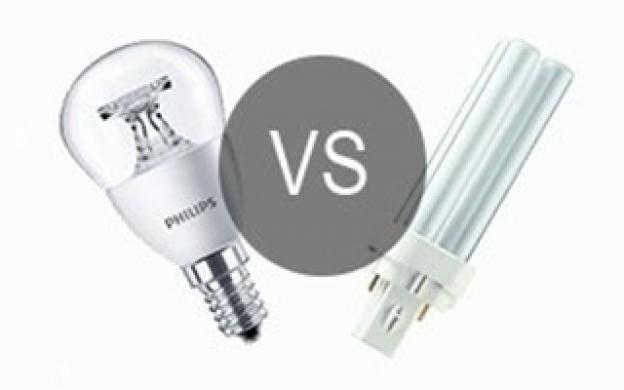 LED VS kompaktlysrör