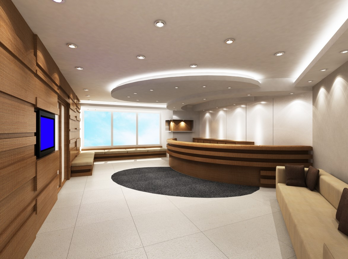 LED infällda spots lounge