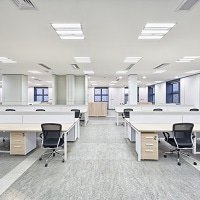 LED-Paneler i ett kontor