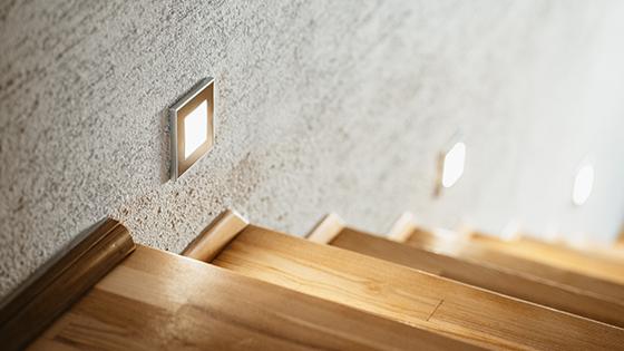 Inbyggnadsspotlights LED trappor