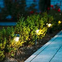 LED-pollare med rörelsesensorer