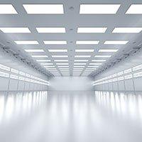 LED-Paneler i en kontorshall