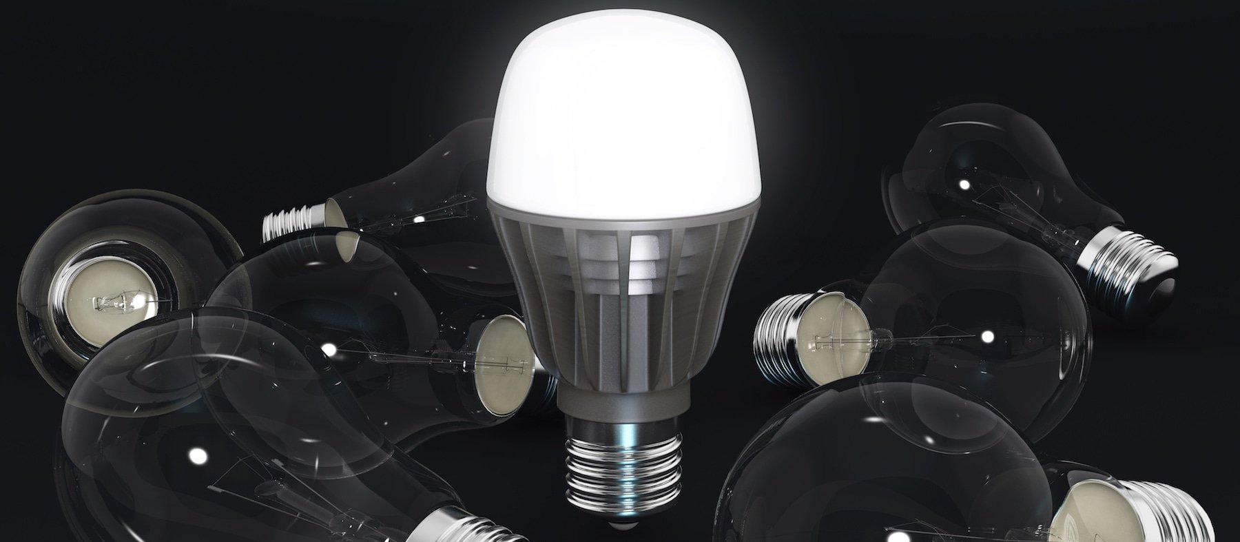 led bulb banner