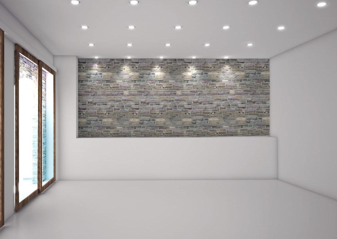 LED infällda spots tomt rum