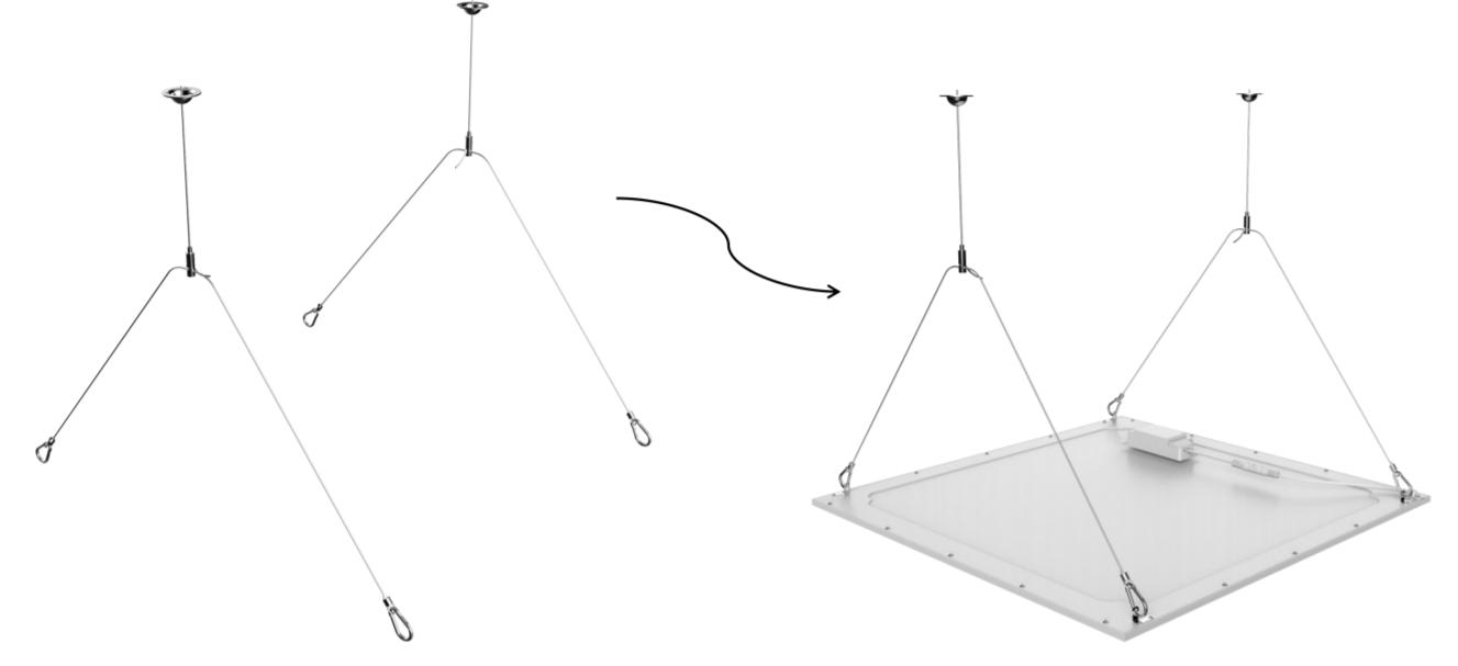 hängande LED panel set